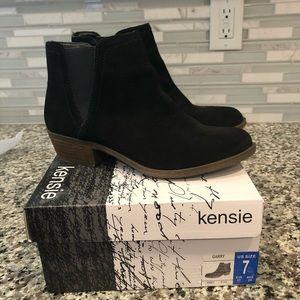 New Kensie Women's Garry Suede Short Ankle Booties